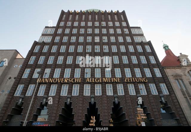 Anzeigerhochhaus Hannover Niedersachsen Deutschland Hannover Anzeiger Building Germany - Stock-Bilder