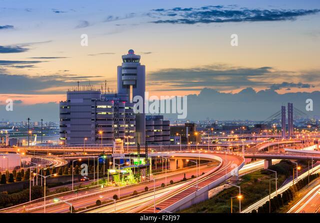 Haneda Airport buildings and roads in Tokyo, Japan. - Stock-Bilder