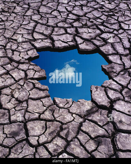 Optimism and blue sky thinking in spite of global warming - Stock Image
