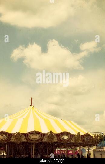 A whimsical carousel at a carnival. - Stock-Bilder