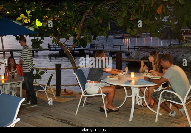 Curaçao Netherlands Antilles Dutch Caribbean Sea Piscadera Bay Hilton Curaçao hotel resort global company - Stock Image
