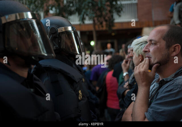 Barcelona, Catalonia. 20th Sep, 2017. Spain. September 20th, 2017. Manager gathered in front of the headquarters - Stock Image