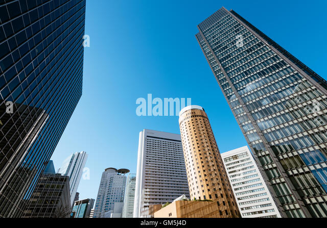 Skyscrapers of Osaka Central Business District. - Stock Image