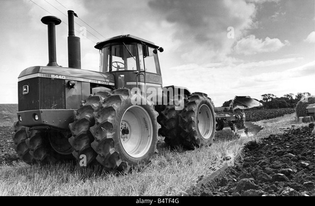 John Deere Tractor Black And White