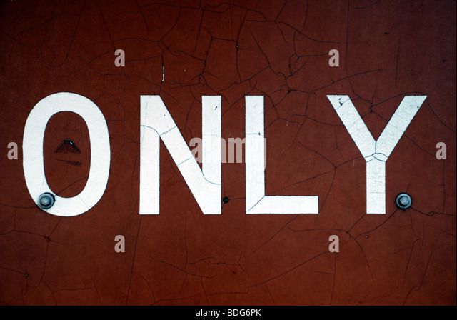 'Only', found type. - Stock Image