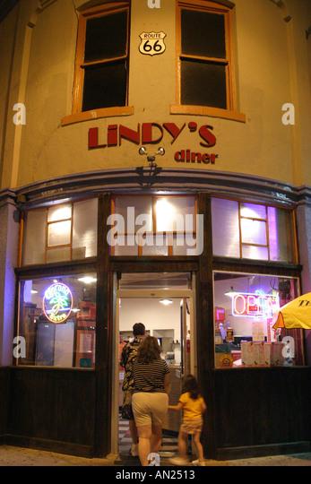 Albuquerque New Mexico Route Central Avenue Lindy's Coffee Shop - Stock Image