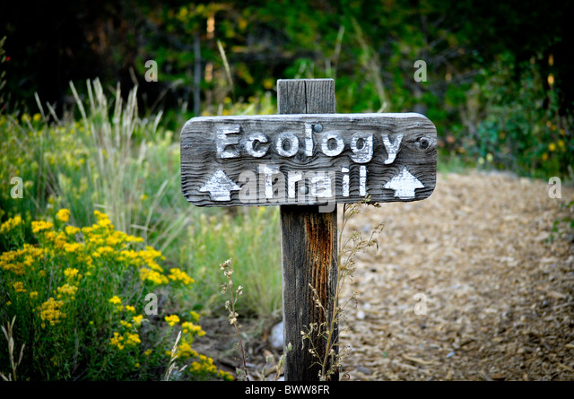 Ecology trail sign - Stock Image