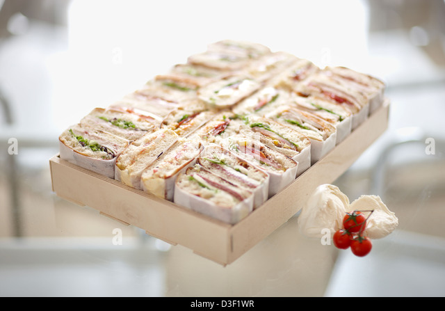 Large ciabatta sandwich selection boxes - Stock Image