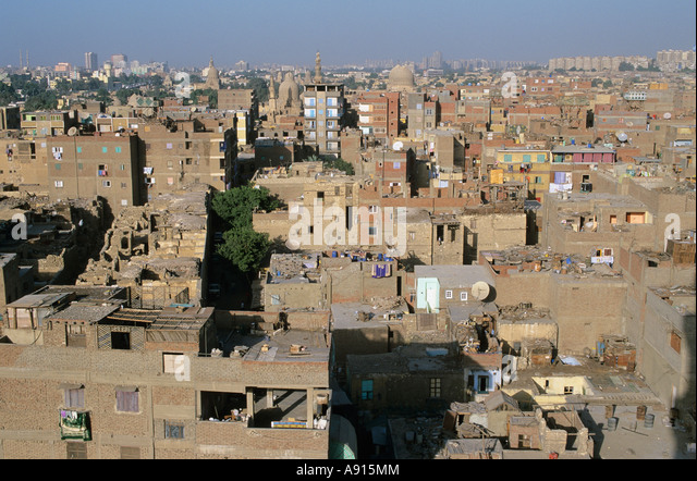 Overview of houses, Cairo, Egypt - Stock Image