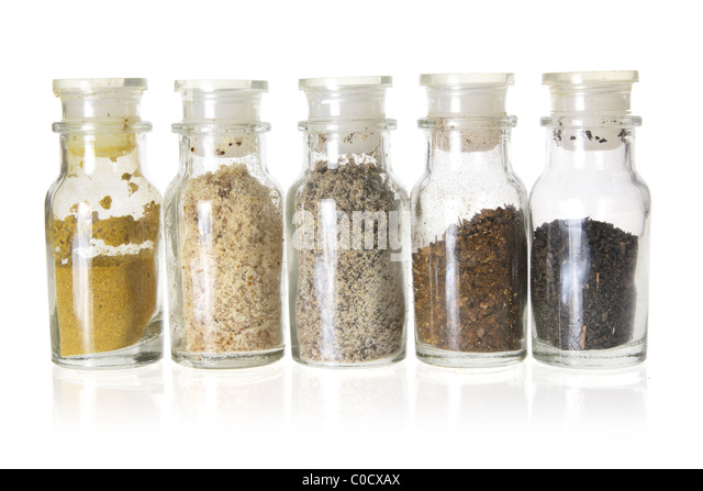 Bottles of Spices - Stock Image