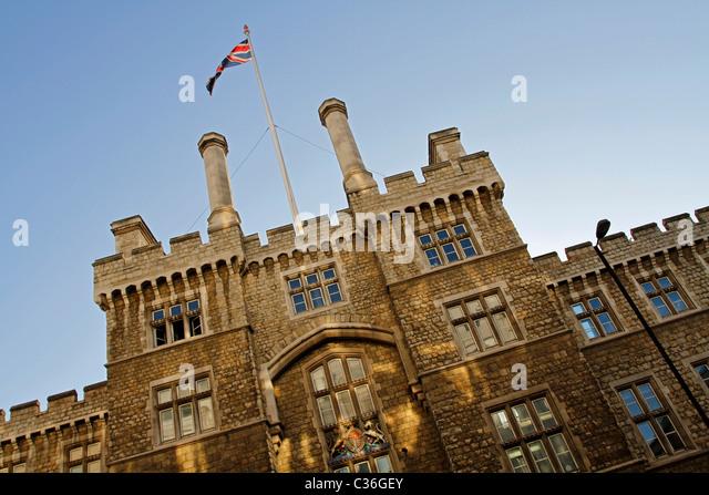 Armoury House, Honourable Artillery Company, City Road, London, England - Stock Image