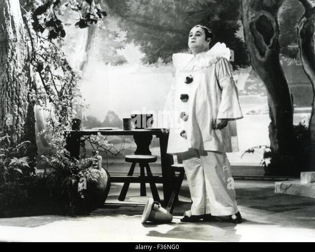 BENIAMINO GIGLI (1890-1957) Italian tenor  in Leoncavallo's opera Pagliacci - Stock Image