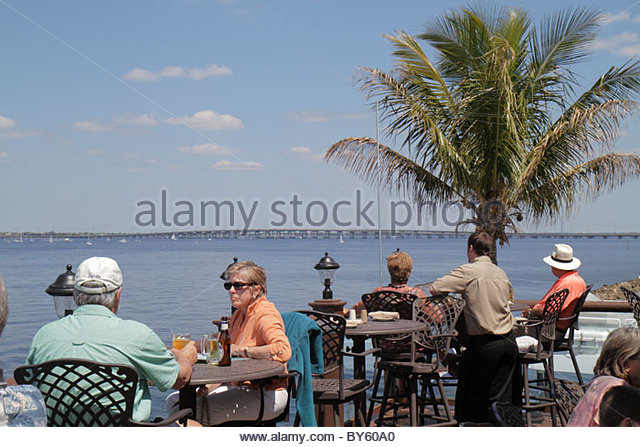 Florida Punta Gorda Fishermen's Village Waterfront Mall Resort & Marina Peace River Charlotte Harbor The - Stock Image
