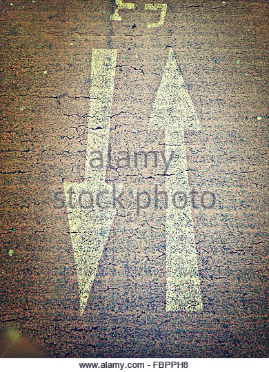 Directional Signs On Street - Stock Image