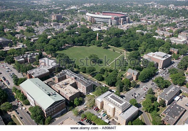 Alabama Tuscaloosa University of Alabama Bryant Denny Football Stadium campus aerial - Stock Image