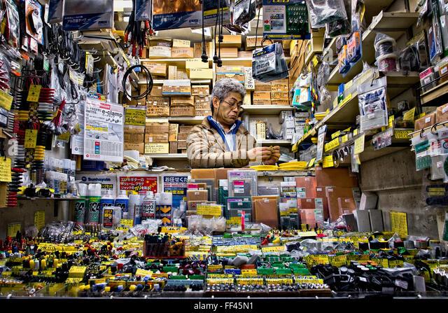 Japan, Honshu island, Kanto, Tokyo, electronics store. - Stock Image