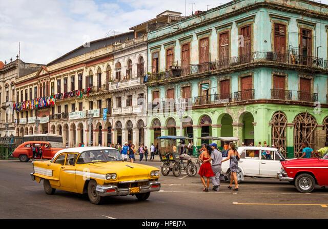 Cuba Havanna Habana Oldtimer , Kuba - Stock-Bilder