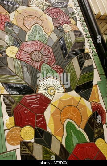 Ohio Cincinnati Carew Tower Art Deco ceramic tile detail - Stock Image