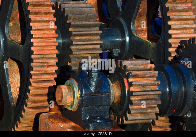 Old Engine Gears : Rusty gears stock photos images alamy