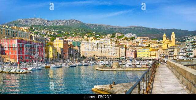 Bastia Port, Corsica Island, France - Stock Image