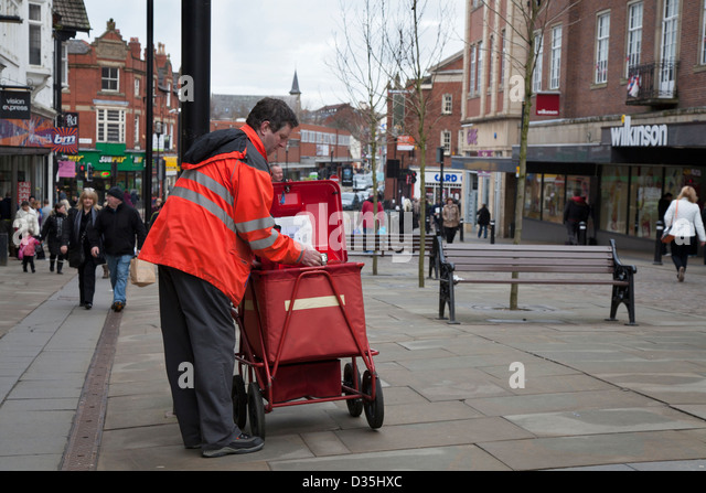 The shops and streets of the Lancashire Town of Wigan, UK - Stock Image