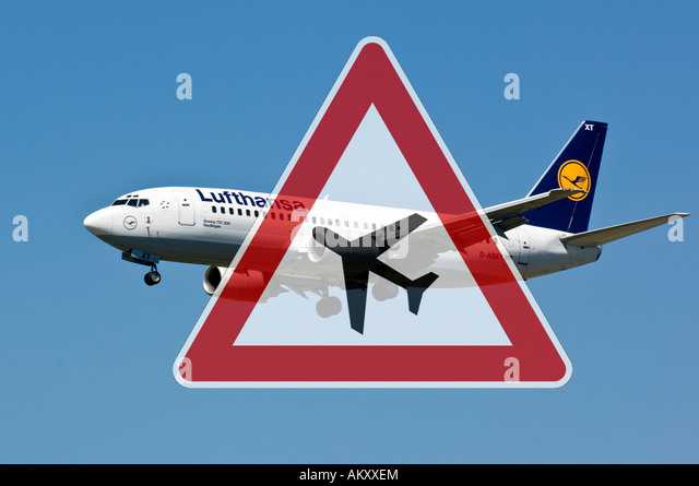 Air traffic, noise pollution - Stock Image