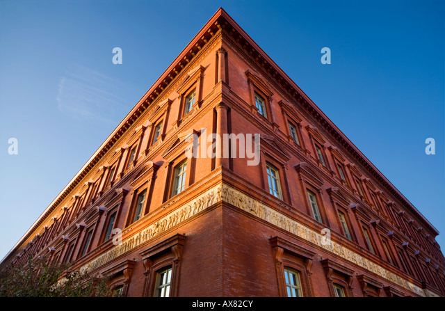 Corner of The National Building Museum Washington, D.C. US USA - Stock Image