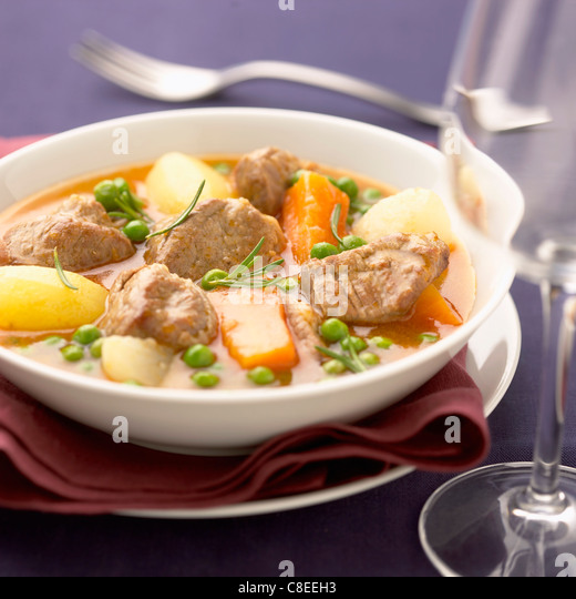 Aveyron lamb spring stew - Stock Image