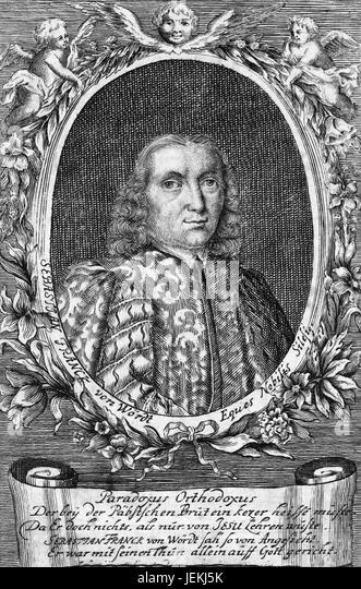 SEBASTIAN FRANCK (1499-c 1543) German philosopher and reformer - Stock-Bilder