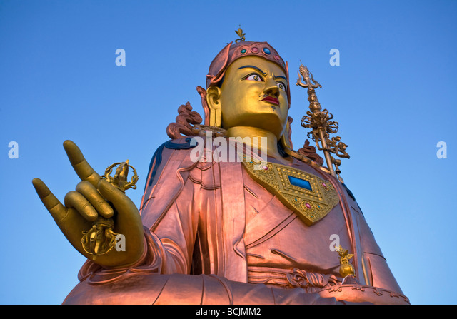 India, Sikkim, Namchi, Samdruptse, Padmasambhava Statue - Stock Image