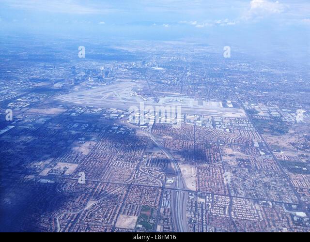 USA, Nevada, Las Vegas, Las Vegas from above - Stock Image