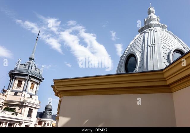 Spain, Europe, Spanish, Hispanic, Madrid, Chamberi, Plaza Alonzo Martinez, Innside Madrid Genova, hotel, cupola, - Stock Image