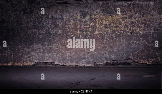 Grunge vintage wall - Stock Image
