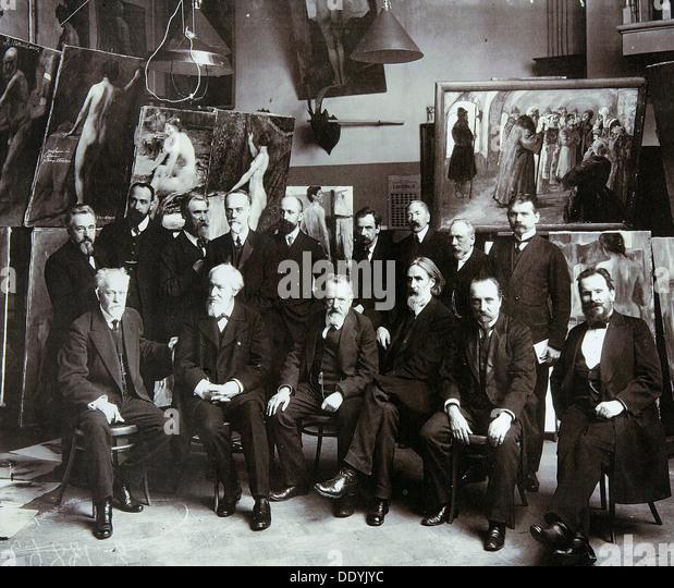 Professors of the Russian Academy of Arts, 1913. - Stock-Bilder