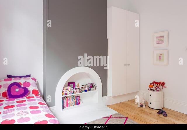 Bedroom. Hawthorne House, Melbourne, Australia. Architect: Annie Lai Architects, 2013. - Stock-Bilder