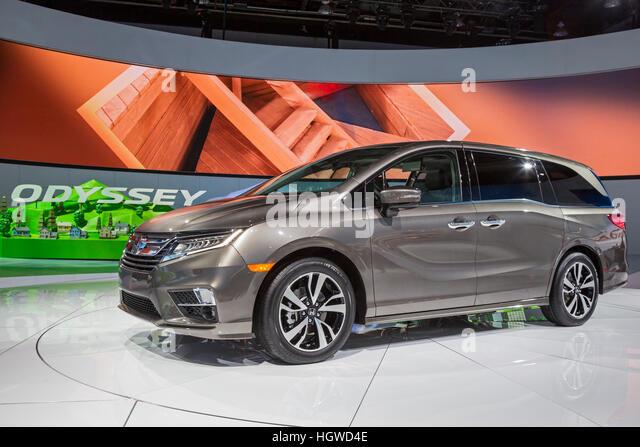 Detroit, Michigan - The Honda Odyssey minivan on display at the North American International Auto Show. - Stock Image