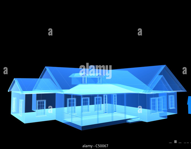 X-ray house - Stock Image