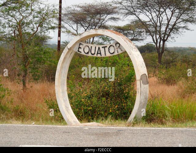 Aequator, Uganda. - Stock Image