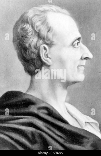 French political philosopher Charles-Louis de Secondat, baron de La Brède et de Montesquieu - Stock Image