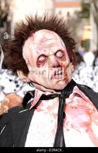 zombie mask - Stock Image