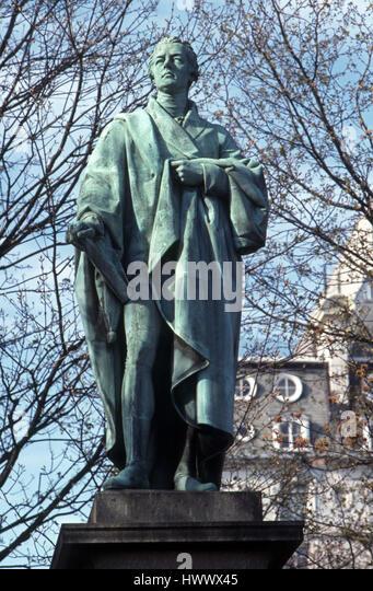 statue of William Pitt - Stock Image