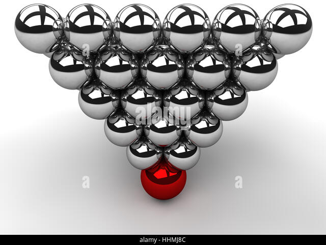pyramid, mass, wrong, weight, reversed, burden, head, ball, reflection, - Stock Image