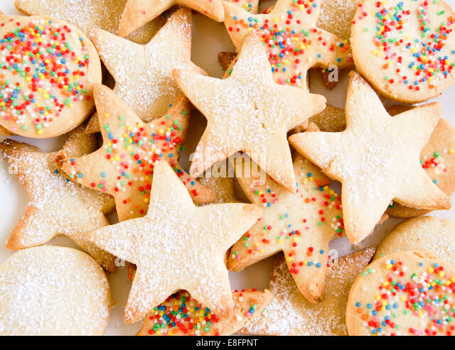 Close up of biscuits - Stock Image