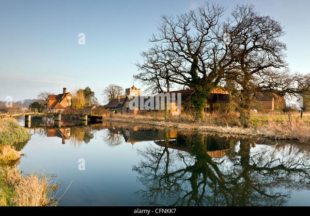 Avon at Britford - Stock Image