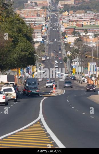 Pretoria city Voortrekker Street - Stock Image