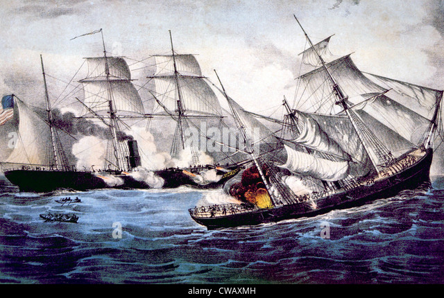 a look at the naval battle between the uss monitor and css merrimack Answer the battle marked the death knell for wooden ships in the naval services of the world the epic battle between the ironclad css virginia (formerly the steam frigate uss merrimack.