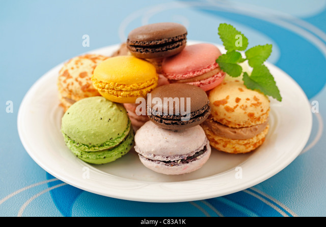Macaroons. Typical French food. - Stock Image