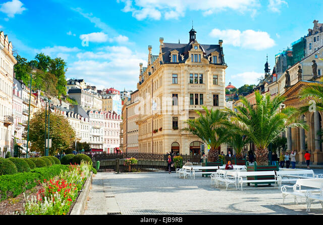 Karlovy Vary Hot springs - Stock-Bilder
