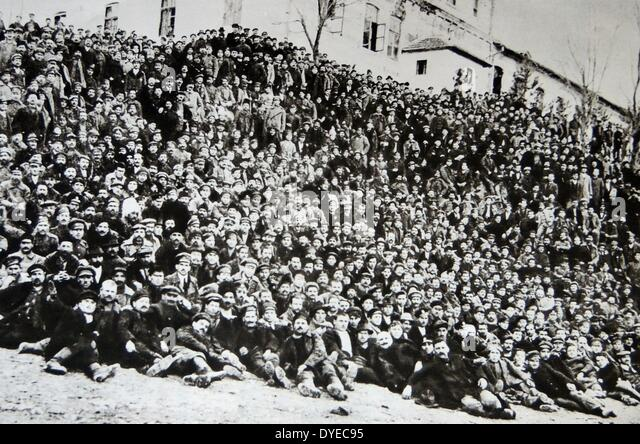 Photograph of Imprisoned Strike Workers - Stock-Bilder