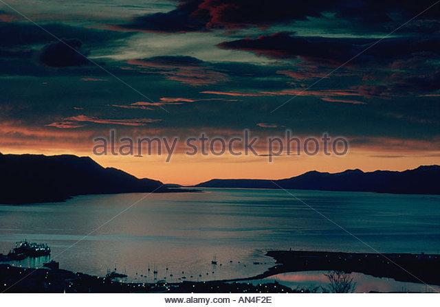 ARGENTINA Patagonia Tierra del Fuego Ushuaia at dawn - Stock Image